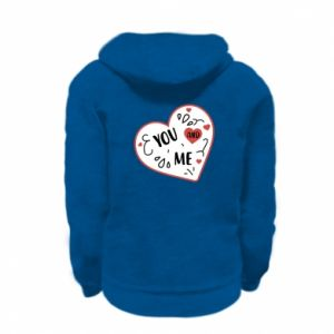 Kid's zipped hoodie % print% You and me
