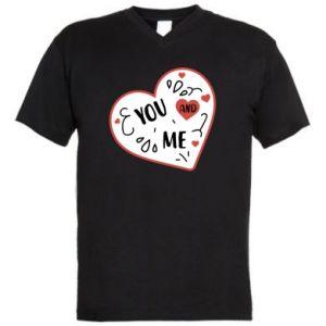 Men's V-neck t-shirt You and me