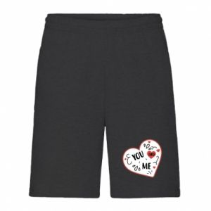 Men's shorts You and me