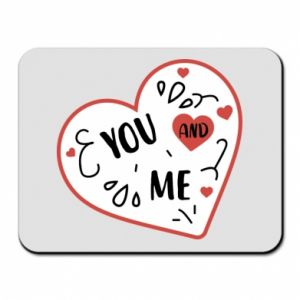 Mouse pad You and me