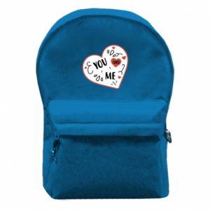 Plecak z przednią kieszenią You and me