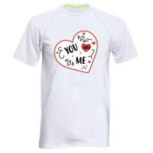 Men's sports t-shirt You and me