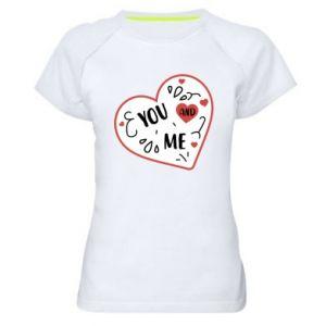 Damska koszulka sportowa You and me
