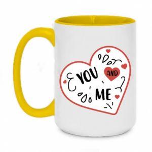 Two-toned mug 450ml You and me