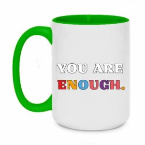 Kubek dwukolorowy 450ml You are enough.
