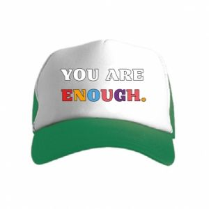 Kid's Trucker Hat You are enough.