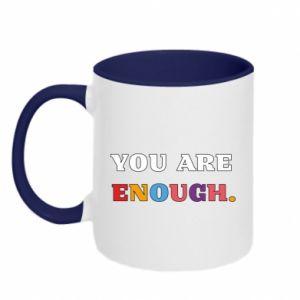Kubek dwukolorowy You are enough.