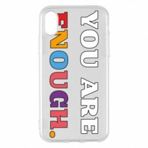 Etui na iPhone X/Xs You are enough.