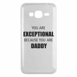 Etui na Samsung J3 2016 You are exclusive because you are dad