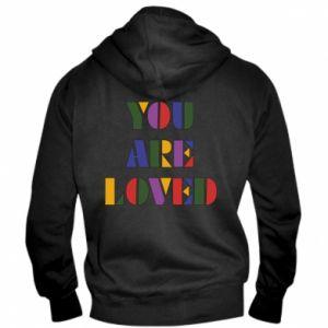 Męska bluza z kapturem na zamek You are loved