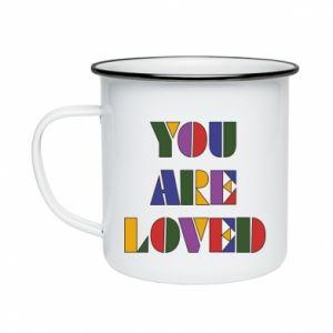 Kubek emaliowane You are loved