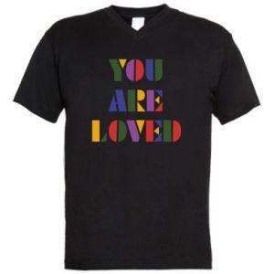 Męska koszulka V-neck You are loved