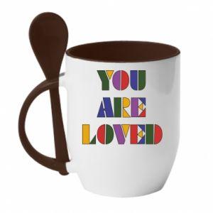 Kubek z ceramiczną łyżeczką You are loved