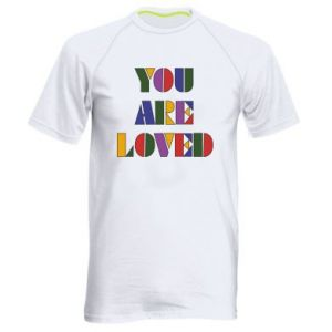 Męska koszulka sportowa You are loved