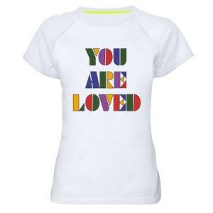 Damska koszulka sportowa You are loved