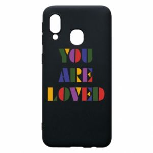 Etui na Samsung A40 You are loved