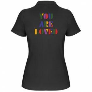 Damska koszulka polo You are loved