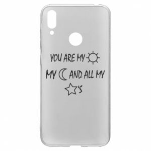 Etui na Huawei Y7 2019 You are my sun, my moon and all my stars
