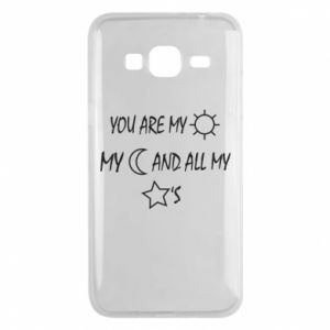 Phone case for Samsung J3 2016 You are my sun, my moon and all my stars