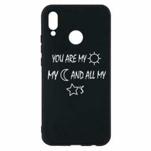 Phone case for Huawei P20 Lite You are my sun, my moon and all my stars