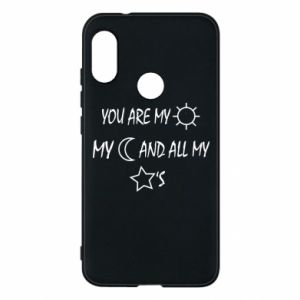 Phone case for Mi A2 Lite You are my sun, my moon and all my stars