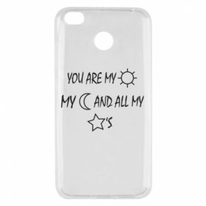 Etui na Xiaomi Redmi 4X You are my sun, my moon and all my stars