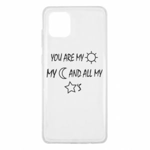 Etui na Samsung Note 10 Lite You are my sun, my moon and all my stars