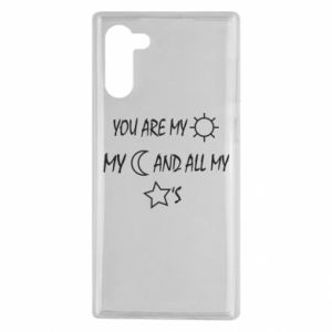 Etui na Samsung Note 10 You are my sun, my moon and all my stars
