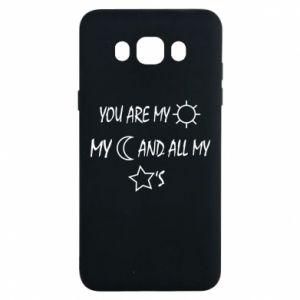 Etui na Samsung J7 2016 You are my sun, my moon and all my stars