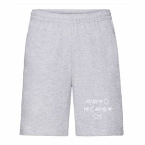 Men's shorts You are my sun, my moon and all my stars