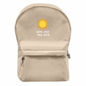 Backpack with front pocket You are my sun