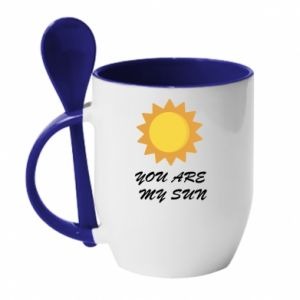 Kubek z ceramiczną łyżeczką You are my sun