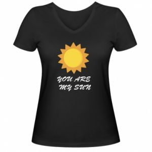 Damska koszulka V-neck You are my sun