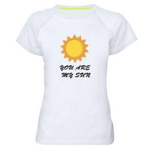 Damska koszulka sportowa You are my sun