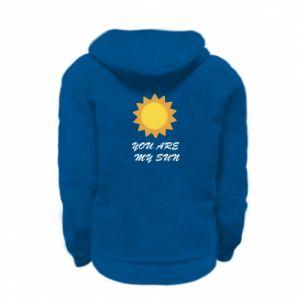 Kid's zipped hoodie % print% You are my sun
