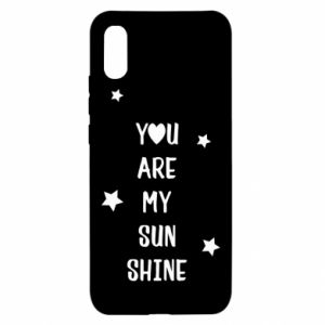 Xiaomi Redmi 9a Case You are my sunshine