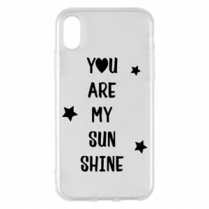 Etui na iPhone X/Xs You are my sunshine