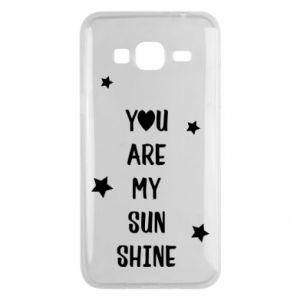 Samsung J3 2016 Case You are my sunshine
