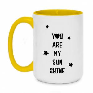 Two-toned mug 450ml You are my sunshine