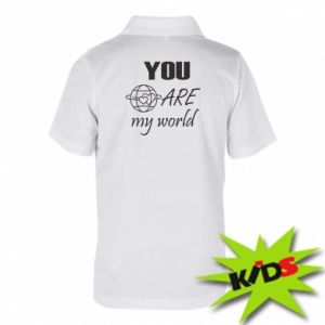 Children's Polo shirts You are my world Earth