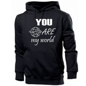 Men's hoodie You are my world Earth