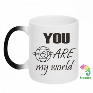 Kubek-magiczny You are my world Earth