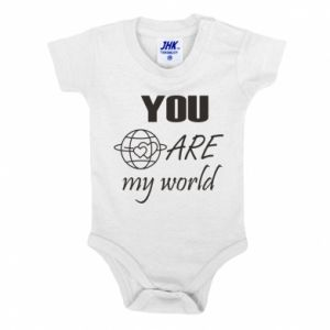 Baby bodysuit You are my world Earth