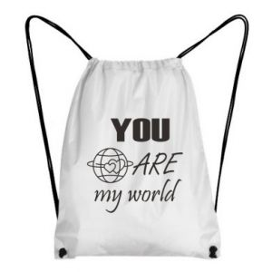 Backpack-bag You are my world Earth