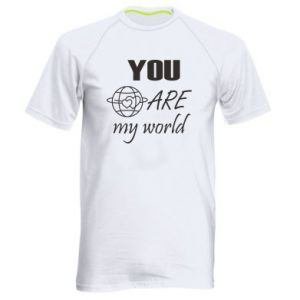 Men's sports t-shirt You are my world Earth