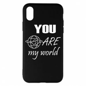 Etui na iPhone X/Xs You are my world Earth