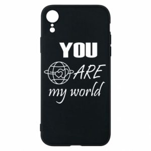 Etui na iPhone XR You are my world Earth