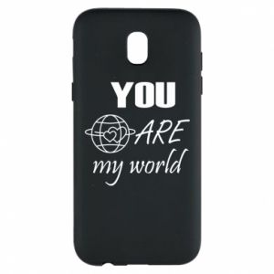Phone case for Samsung J5 2017 You are my world Earth