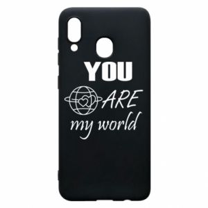 Phone case for Samsung A20 You are my world Earth