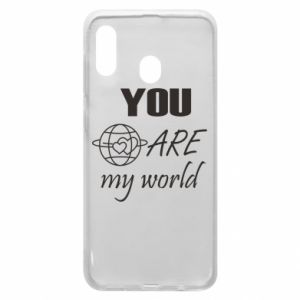 Phone case for Samsung A30 You are my world Earth